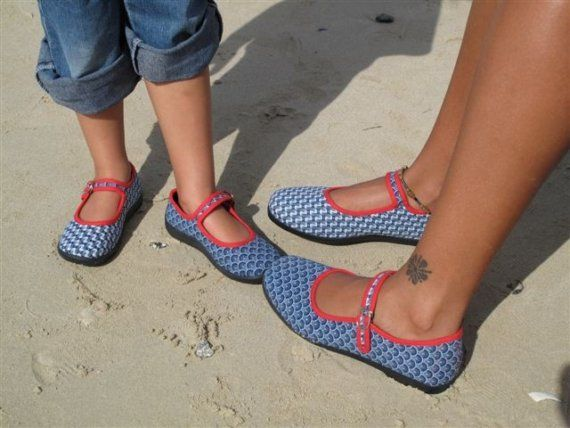 South African Shwe Shwe Blue and Red Bestfriends Shoes. $30.00, via Etsy.