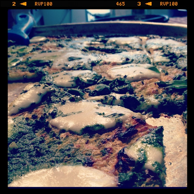 chickpea flat bread baked with #pesto  Salone del Gusto Terra Madre