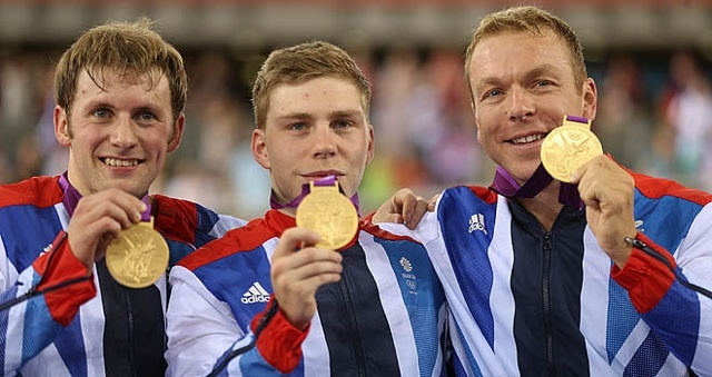 Olympic track day one: fifth Olympic gold medal for Sir Chris Hoy in men's team sprint triumph    Sir Chris Hoy has won the fifth Olympic gold medal of his career with victory in the men's team sprint with Jason Kenny and the superb Philip Hindes.