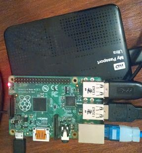 Raspberry Pi B+: setting up a home server with just a USB Harddrive   Check out http://arduinohq.com  for cool new arduino stuff!