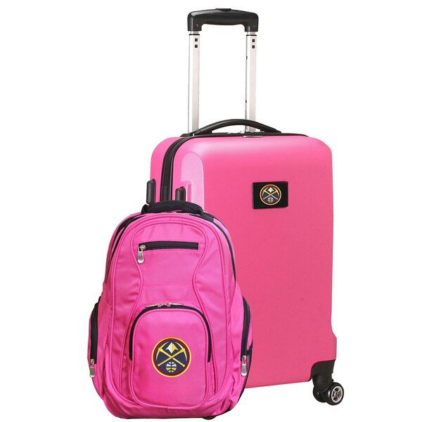 Denver Nuggets Deluxe 2 Piece Backpack And Carry On Set Pink