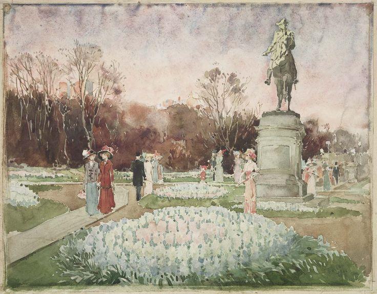 Boston Public Garden, 1910-1915. Unidentified artist, American, 19th century. Museum of Fine Arts, Boston