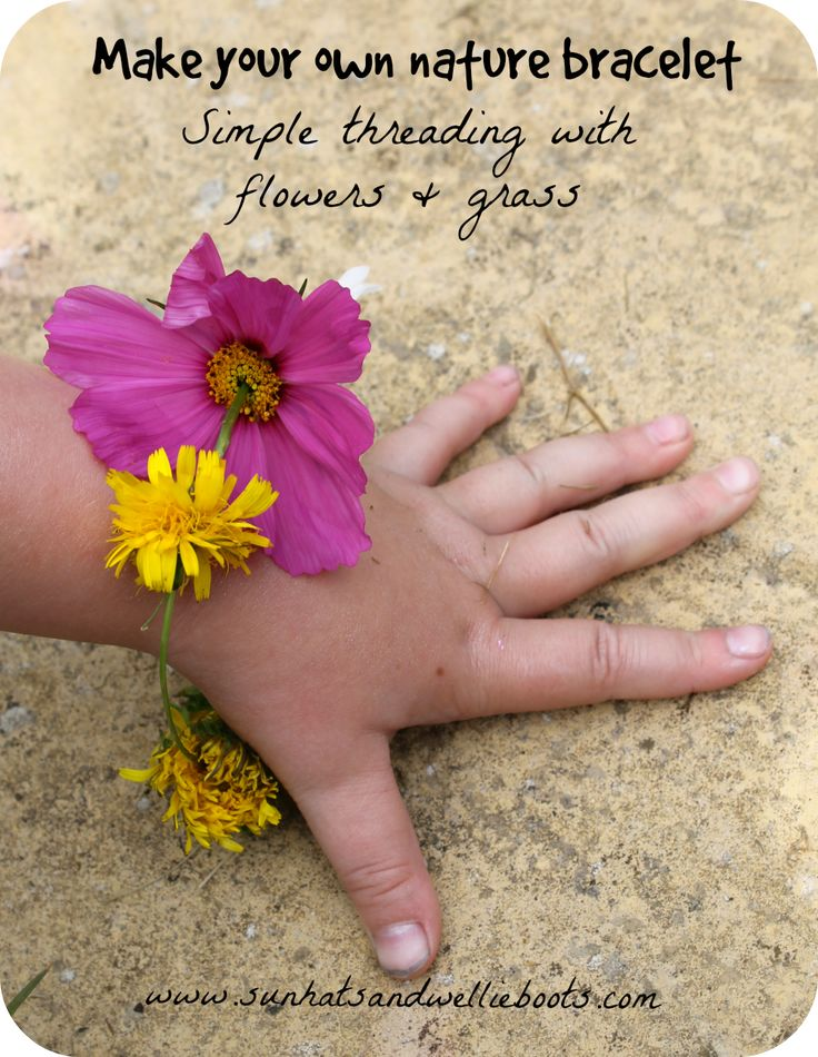 Nature bracelet - made from grass & wild flowers {from @sunhatswellies}