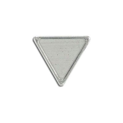 Metal pendant, 20x22mm, inverted triangle setting, antique silver, lead free