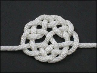 Celtic tree of life knot, from fusionknots.com which has a huge gallery with how-to videos on unusual/ornamental knotwork