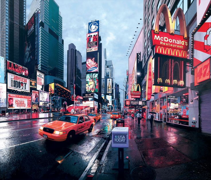 Times Square Early Morning by Bertrand Meniel