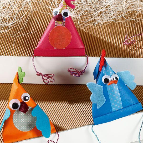 Poules berlingots à faire pour #Paques avec Wesco Family.