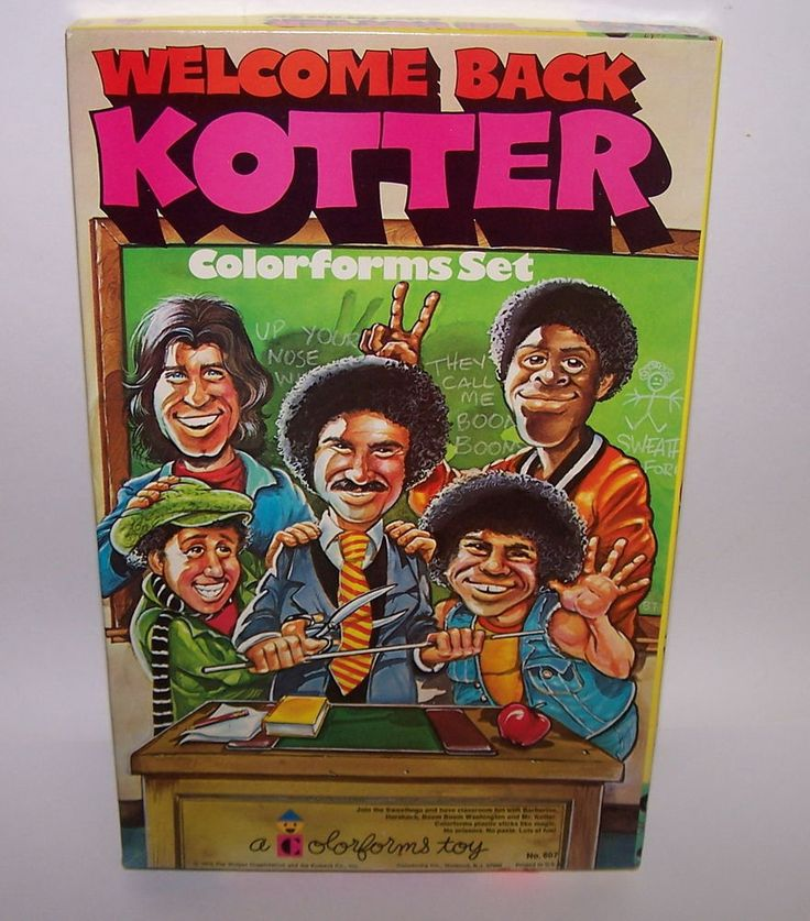 Welcome Back Kotter Colorforms Adventure Play Set Unused 1976 Vintage #Colorforms