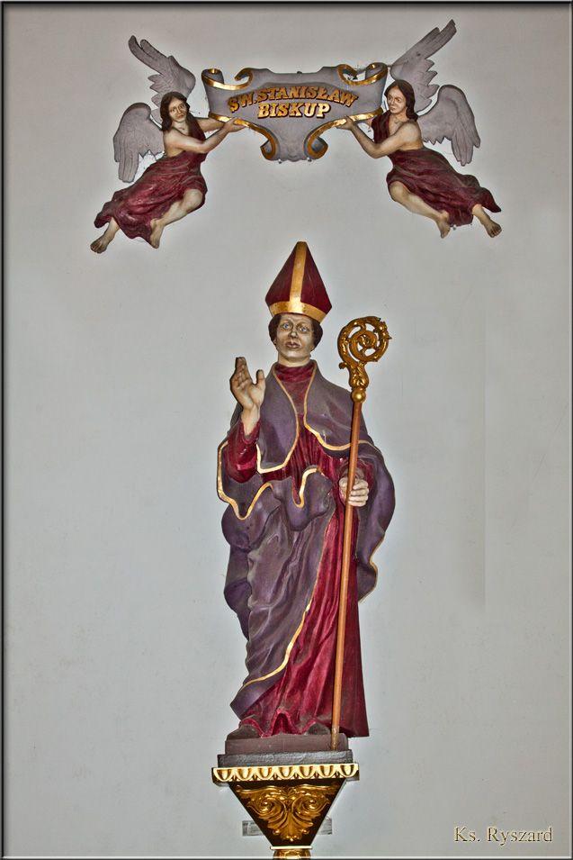 Figurka patrona kościoła.