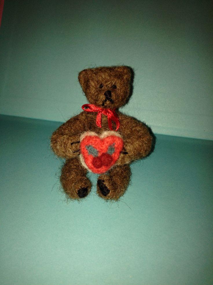 Needle felt teddy