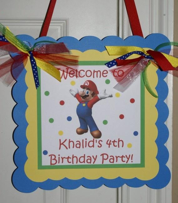 Best 25+ Mario Birthday Banner Ideas On Pinterest