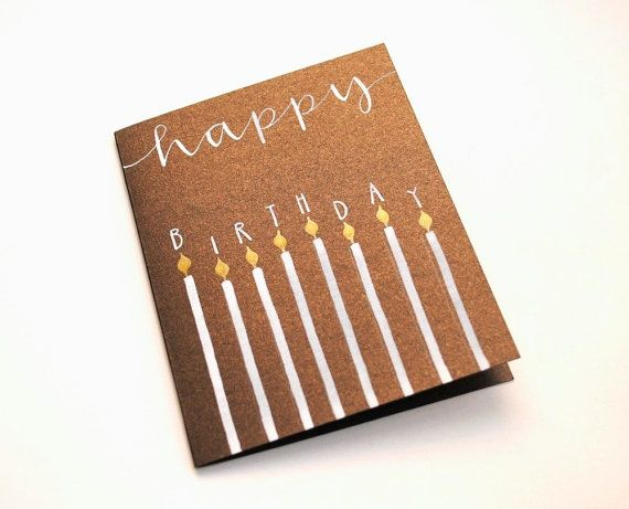 birthday card. like the skinny candles.