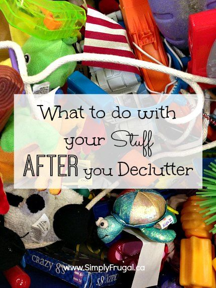 Wondering what to do with all your stuff after you declutter?  Here are several way to get rid of your unwanted items, while making some extra cash.