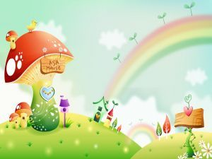 Setas y arco iris