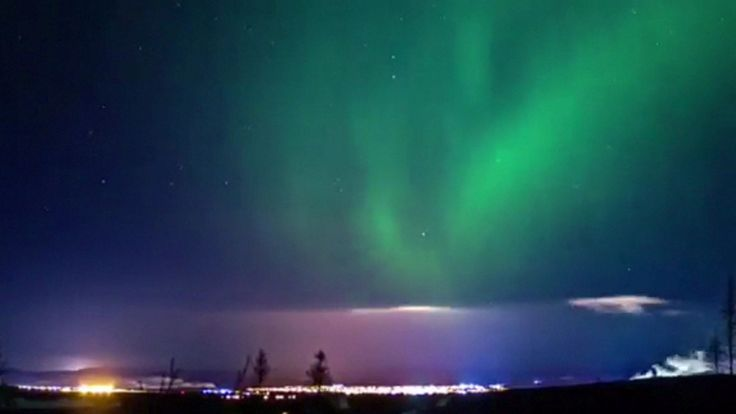 Northern Lights over Labrador City Canada
