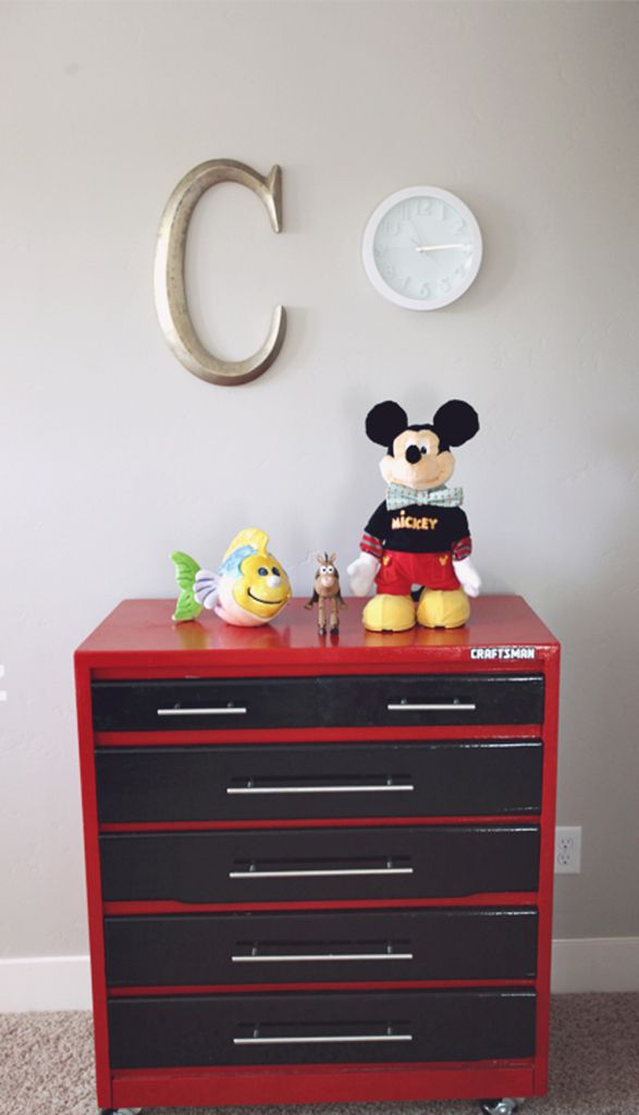 Dresser Painted To Look Like A Craftsman Tool Box ... see messages for how to…