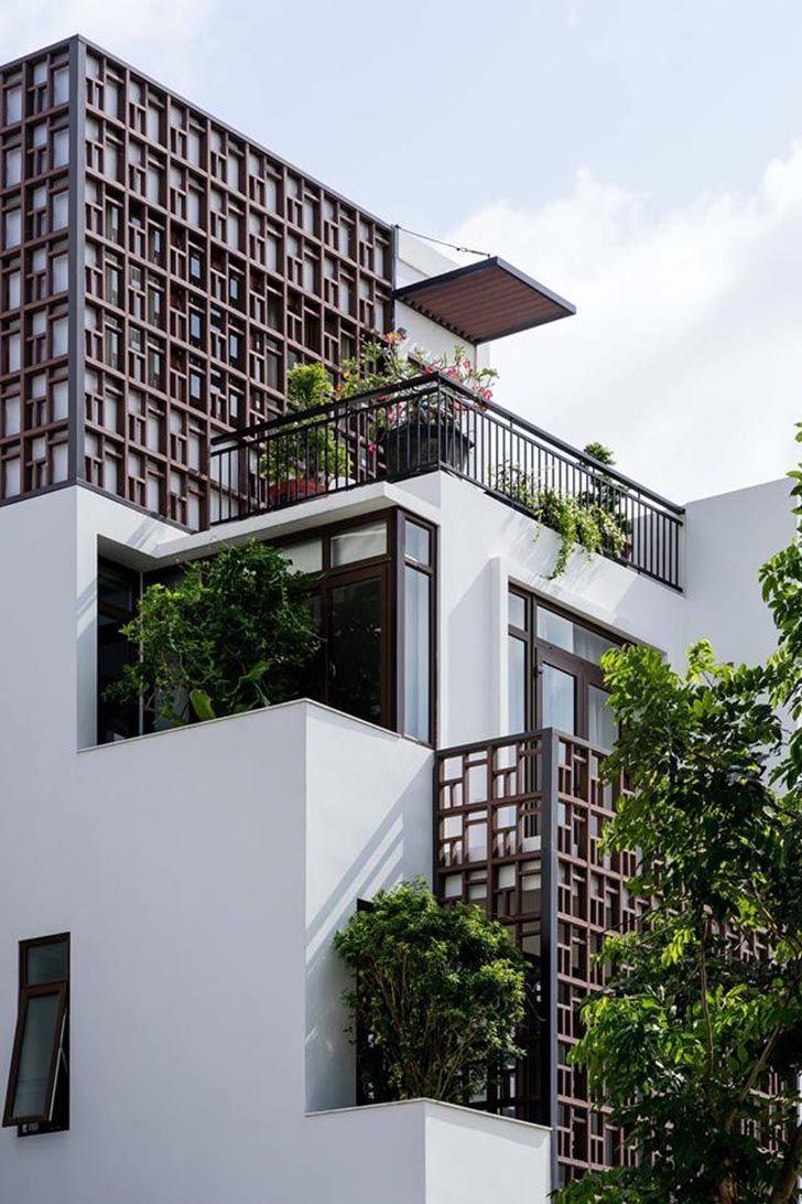 Kientruc Nhadep Nhapho Noithat Townhouse Architecture Homedesign Vietnam Interiorarchitec Facade Architecture Design Facade Design Facade Architecture