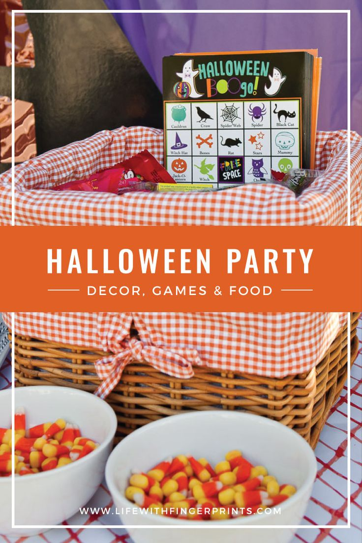 Halloween birthday party, carnival style. Party food, games and decor.