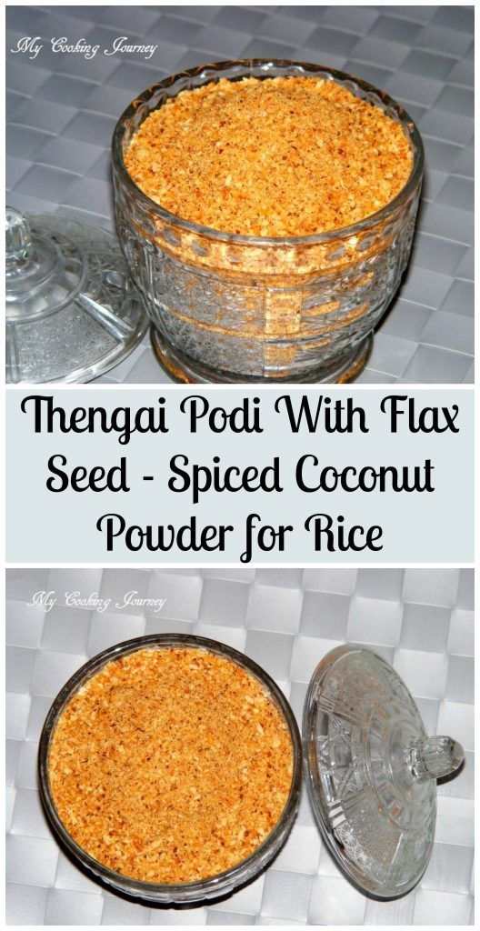 Thengai Podi with Flax Seed – Spicy Coconut Powder with Flax Seed