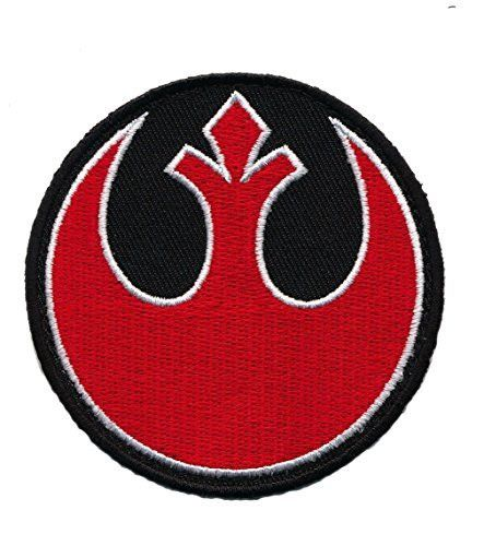 Patch Squad Men's Round Star Wars Squadron Rebel Alliance Jedi Order Patch(Rd/Blk)