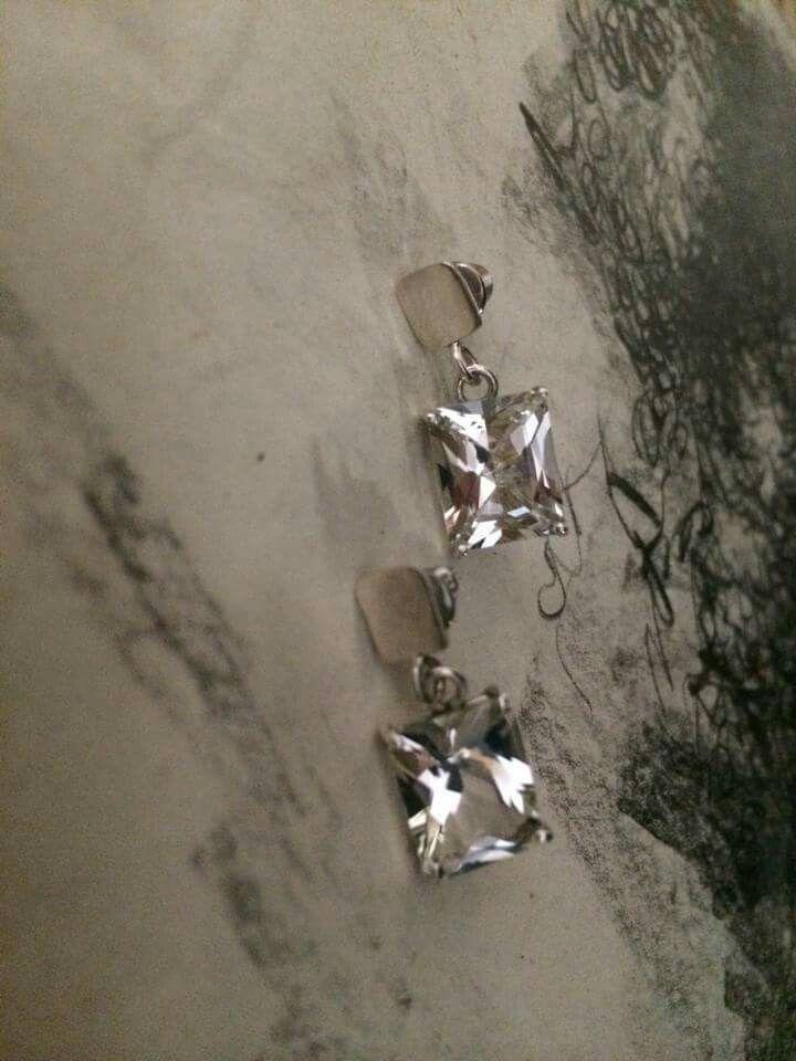 Silver topaz earrings