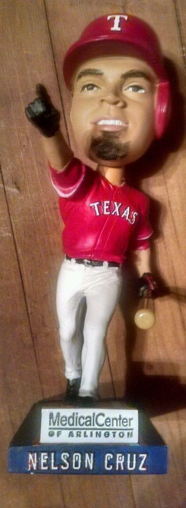 Bobblehead Nelson Cruz Texas Rangers 2011 BD&A Collectible Medical Center of Ar  #BDA #TexasRangers