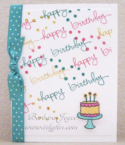 CC482 - HB with a Slant by bejoyce - Cards and Paper Crafts at Splitcoaststampers