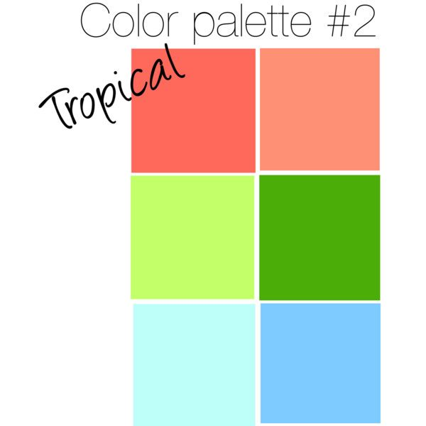 Tropical color palette, created by annahbanannah on Polyvore