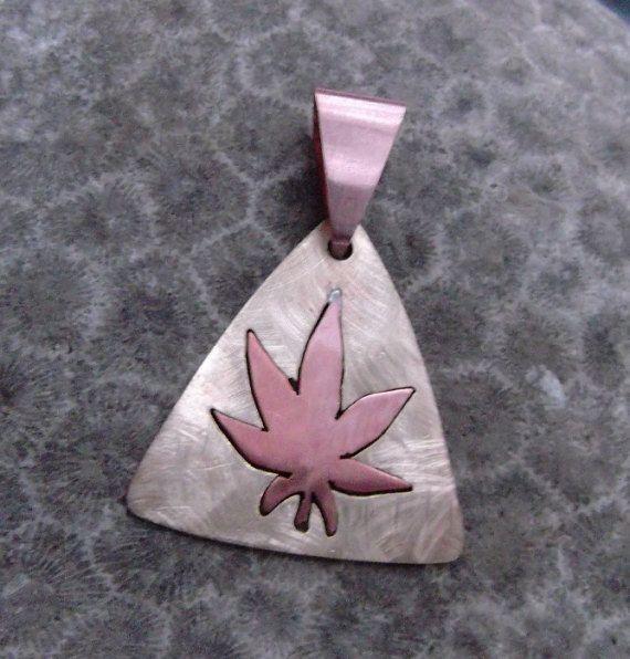 Cannabis Leaf Pendant  Pot Leaf Pendant  by TheJewelerAtLarge