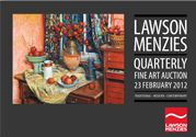 The premier brand Deutscher~Menzies conducted its first auction in April 1998. Founded by Rod Menzies and Chris Deutscher, Deutscher~Menzies' arrival on the local stage was perceived as a bold and brave step that would see them compete with a long established Australian art auction scene.