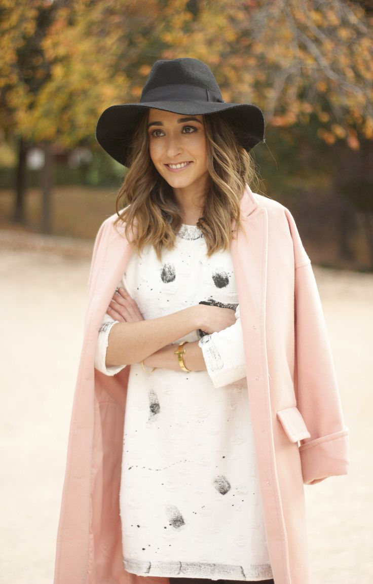 Black and White Dress With Pink Coat | BeSugarandSpice - Fashion Blog