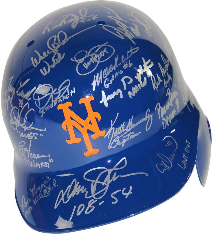 1986 New York Mets Team Signed New York Mets Batting Helmet w/ Inscriptions (28 Signatures)