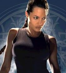Angelina Jolie - digital enhancement on Tomb Raider