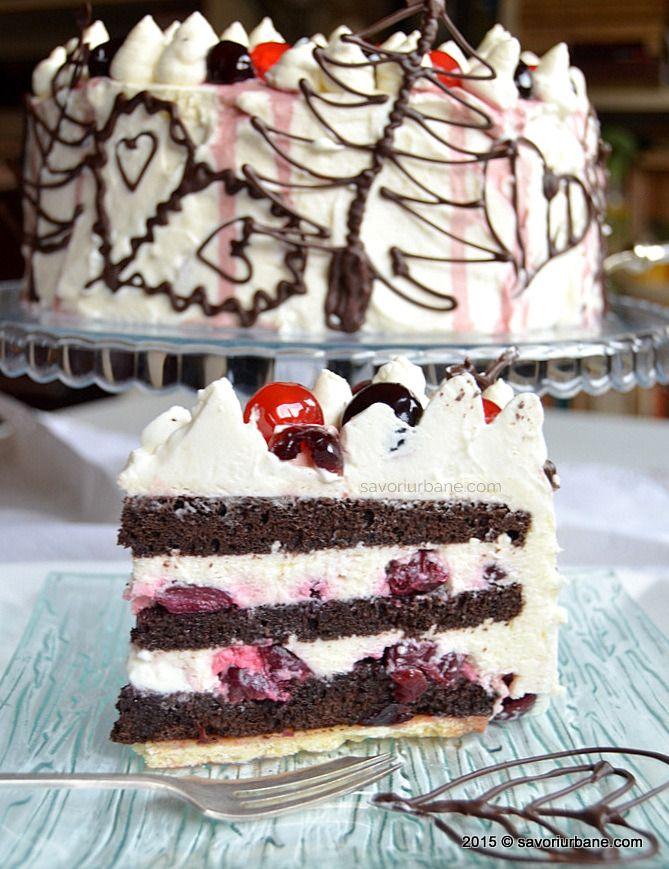 Tort Padurea Neagra reteta originala Savori Urbane - Schwarzwälder Kirschtorte, Gâteau Forêt Noire, Black Forest Cake (13)