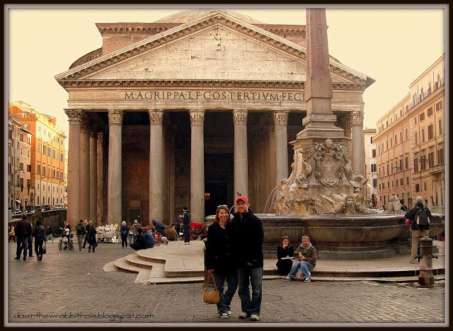 """Walk the streets of Rome and see the Pantheon. Find out more at """"Down the Wrabbit Hole - The Travel Bucket List"""". Click the image for the blog post."""