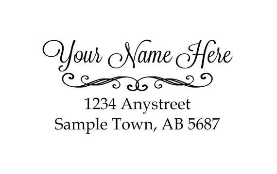 Self inking custom Personalized Return address Name rubber stamp R95