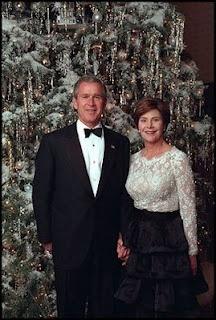 President George W. Bush and First Lady Laura Bush.