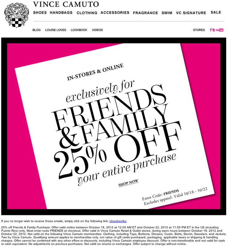 Vince coupon code