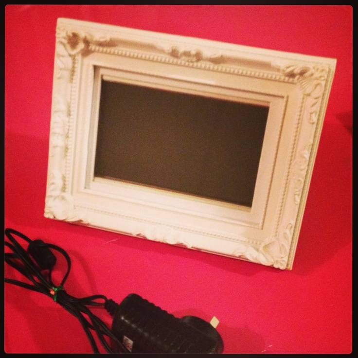 cheap digital photo frame turned into a gorgeous piece with a cheap 4 baroque picture frame
