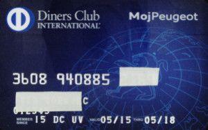 Diners Club International - Moj Peugeot (Diners Club SLO, Slovenia) Col:SI-DC-0003