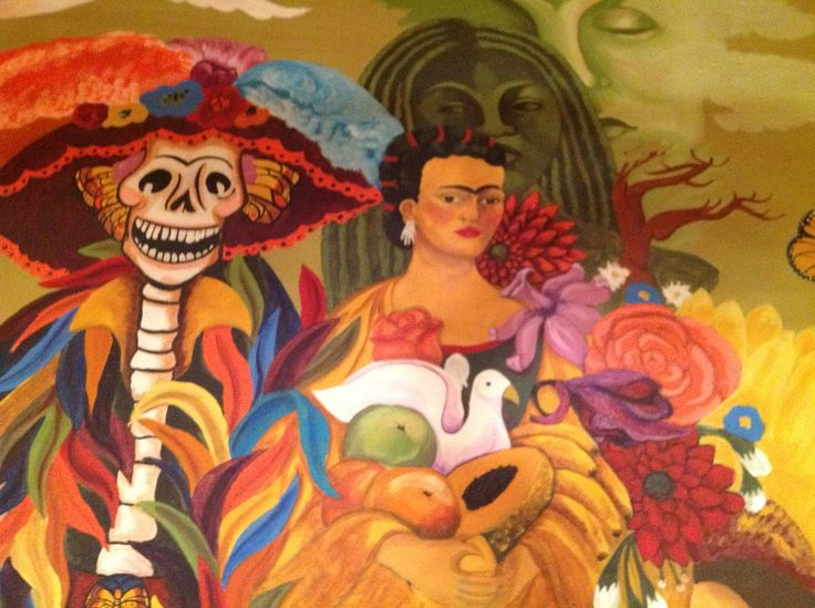 Pin by pamela armas on treasures of the gypsy pamela for Dia de los muertos mural