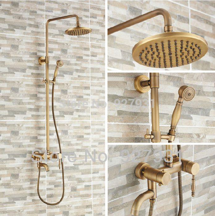 aliexpresscom acheter en gros et au dtail mural mitigeur bain douche robinet antique - Douche Avec Tuyau Apparent