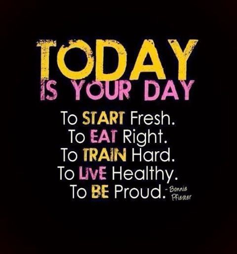 Today Is Your Day Quotes Quote Fitness Workout Motivation Proud Healthy Exercise Motivate Fitness Quote Fitness