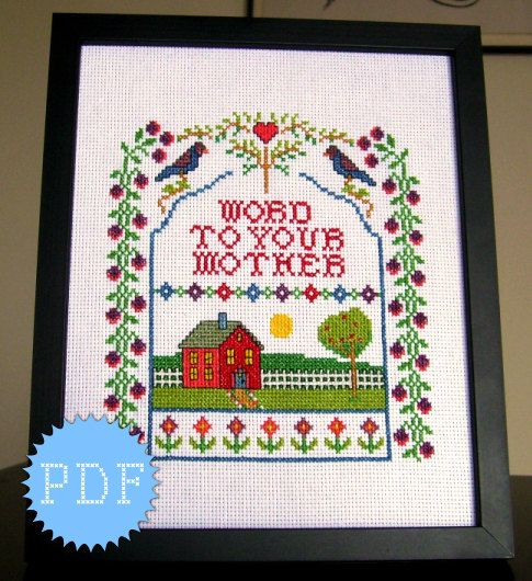 PDF Cross Stitch Sampler Funny INSTANT by DisorderlyStitches