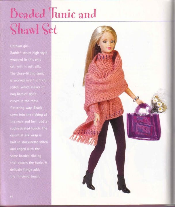 121 best Barbie Knit Patterns images on Pinterest | Barbie clothes ...