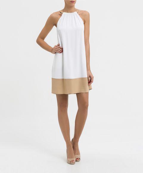 Vestido trapecio blanco TRUSSARDI
