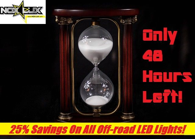Hurry before Nox Lux's exclusive 4th of July #offroadLEDlight sale is gone till next year! https://4x4offroadparts.wordpress.com/2017/07/06/48-hours-left-25-led-offroad-light-sale/