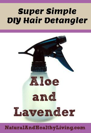 A quick and simple homemade hair detangler recipe. 1/4 cup Aloe vera juice (where on earth do I buy that) 1/2 cup green tea  (just buy normal green tea bags such as this to make the solution) 20 Drops of lavender essential oil