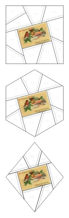 Best Wishes for the New Year crazy quilt block patterns posted on Janet Stauffacher's Nostalgic NeedleART blog in 2012.