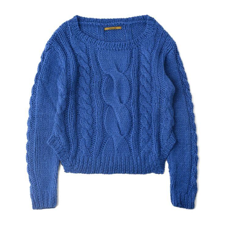 ケーブル編みニットプルオーバー #embellish #fashion #tops #ladies #knitwear #trend